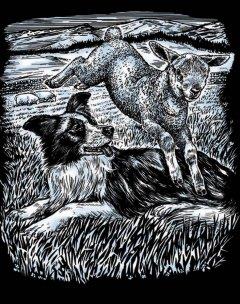 Набор для творчества Sequin Art Artfoil Silver Sheepdog and Lamb 20.4х25.5 см (SA0606)