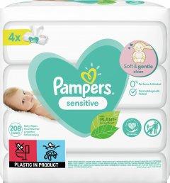 Детские Влажные Салфетки Pampers Sensitive 4х52 шт (8001841062624)