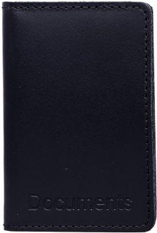 Мужская обложка для документов кожаная DNK Leather DNK-minidoc-R-colK Темно-синяя (2900000094604)
