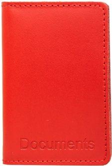 Женская обложка для документов кожаная DNK Leather DNK-minidoc-R-colH Красная (2900000094628)