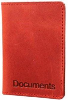 Женская обложка для документов кожаная DNK Leather DNK-minidoc-fileH-colH Красная (2900000094567)