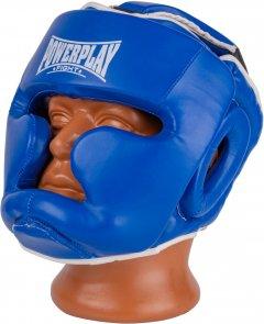 Боксерский шлем тренировочный PowerPlay 3100 PU M Синий (PP_3100_M_Blue)