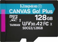 Kingston MicroSDXC 128GB Canvas Go! Plus Class 10 UHS-I U3 V30 A2 (SDCG3/128GBSP)