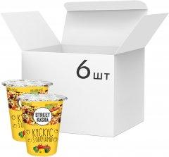 Упаковка кускуса Street Kasha с овощами 50 г х 6 шт (8768137287290)