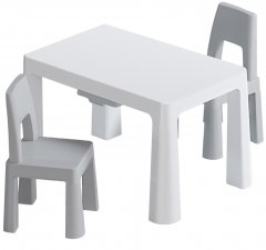 Детский функциональный столик POPPET Моно Грей и два стульчика (PP-005WG-2)