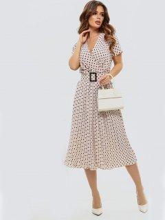 Платье ISSA PLUS 11533 S Бежевое (issa2000276033946)