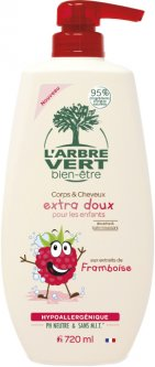 Крем-гель для душа L'Arbre Vert детский с экстрактом малины 720 мл (3450601032271)