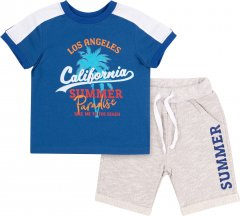 Костюм (футболка + шорты) Бемби КС615 110 см Синий с серым (06615012240.8X0)