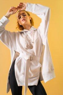 Женское Худи Street Style 75-20 Oversize Белый