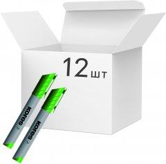 Набор маркеров для флипчартов Kores XF1 1-3 мм 12 шт Зеленых (K21305)