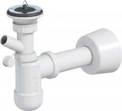 Сифон для раковины PREVEX Basic со сливной трубой 32/50 мм с подключением к стиральной машине (PR4-D4NR4-002)