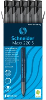 Набор маркеров перманентных Schneider Maxx 220 F 0.4 мм Черный 10 шт (S112401)