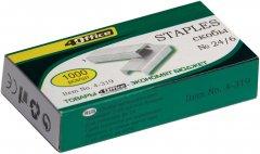 Набор скоб 4Office №24/6 10 упаковок по 1000 штук (4-319/14820071010349)