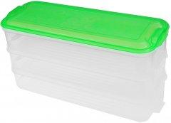 Контейнер пищевой Supretto 3 яруса Салатовый (5671-0001)