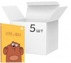 Упаковка блокнотов 4Profi Funny Series А5 без линовки 64 листа Brown Bear 5 шт (901296)