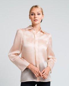 Блуза Loreine из плотного шелка органзы 34 бежевая (L19332_34SBG)