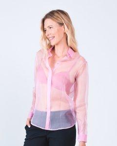 Блуза Loreine прозрачная из шелка органзы 36 розовая (L19326_36SPN)