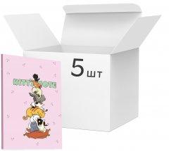 Упаковка блокнотов 4Profi Kitty note А5 в клетку 40 листов Light pink 5 шт (900053)