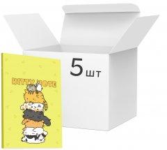 Упаковка блокнотов 4Profi Kitty note А5 в клетку 40 листов Yellow 5 шт (900084)