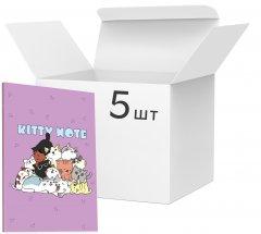Упаковка блокнотов 4Profi Kitty note А5 в клетку 40 листов Lilac 5 шт (900077)