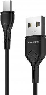 Кабель Grand-X USB Type-C 3A 1 м Black (PC-03B)