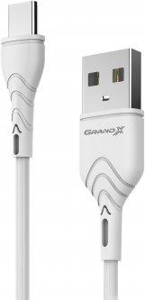 Кабель Grand-X USB Type-C 3A 1 м White (PC-03W)