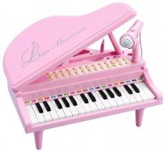 Детское пианино-синтезатор Baoli Маленький музыкант с микрофоном 31 клавиша Розовый (BAO-1504C-P) (2722953436153)