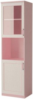 Шкаф Aqua Rodos Voyage с витриной Розовый (АР000032039)