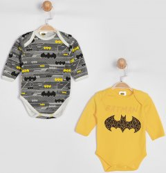 Боди DC Comics Бэтмен KZ15902 56-62 см 2 шт Серое с желтым (8691109802279)