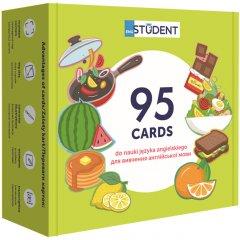 Карточки для изучения английского English Student согласно с программой МОН Здоровое питание + аудио (9786177702183)