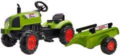 Детский трактор на педалях Falk Claas Arion с прицепом Зеленый (2041C)