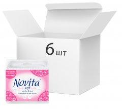 Упаковка ватных палочек Novita Soft 6 пачек по 160 шт (4823071626124) (41202908)