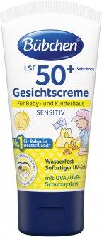 Солнцезащитный крем для лица Bubchen Sensitive с коэффициентом защиты SPF 50+ 50 мл (40057507)