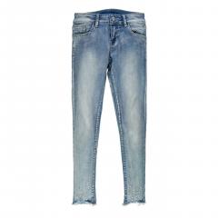 Еластичні джинси для дівчинки з аплікаціями Mek 201MIBF002-148 блакитні 152