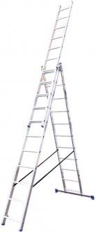 Алюминиевая трехсекционная лестница Virastar Triomax 3х11 ступеней (VTL311)