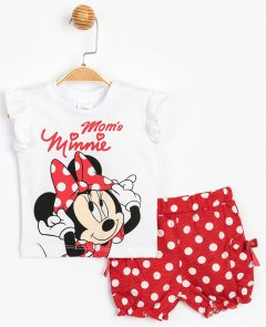 Костюм (футболка + шорты) Disney Minnie Mouse MN15633 68-74 см Белый с красным (8691109790064)