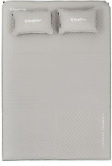 Самонадувающийся коврик KingCamp Comfort Double II KM3594 Beige