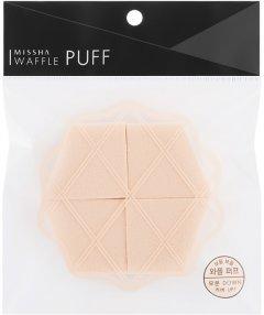 Набор спонжей для макияжа Missha Waffle Puff 4 шт (8809530055427)