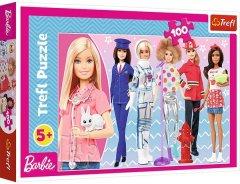 Пазли Trefl Барбі. Можеж бути, ким захочеш. Mattel Barbie, 100 елементів (16385)
