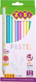 Карандаши цветные пастельные ZiBi Pastel 12 цветов (ZB.2470)