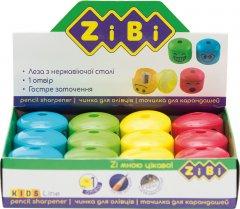 Набор точилок ZiBi 12 шт Смайлик с контейнером 1 отверствие Ассорти (ZB.5533)