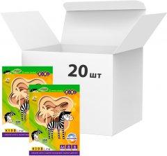 Набор цветного двухстороннего целюлозного картона ZiBi А4 8 листов 8 цветов 200 г/м2 20 упаковок Ассорти (ZB.1959)