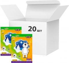 Набор белого мелованого двухстороннего картона ZiBi А4 10 листов 180 г/м2 20 упаковок (ZB.1991)