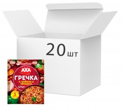 Упаковка каши гречневой AXA быстрого приготовления с грибами и овощами 40 г х 20 шт (4820008129840)