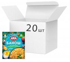 Упаковка каши кукурузной AXA Банош со сливками, морковью и зеленью 40 г х 20 шт (4820008129857)