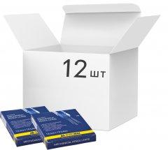 Упаковка грифелей Buromax к механическому карандашу HB 0.7 мм 12 пачек по 12 шт (BM.8698) (4824004013158)