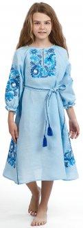 Платье-вышиванка Edelvika 197-19/00 122 см Голубое (2100000429653)