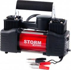 Автокомпрессор Storm Bi-Power 2-цилиндровый с зажимами АКБ 10 Атм 85 л/мин 360 Вт (20400)