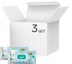 Упаковка влажных салфеток Dada Для мальчиков с клапаном 3 пачки по 120 шт (8590174980472)