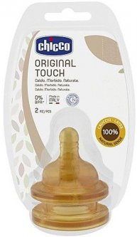 Латексная соска Chicco Original Touch для каш 6м+ 2 шт (27856.00)